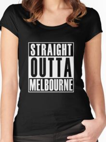 Straight Outta Melbourne Women's Fitted Scoop T-Shirt