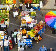 """Colorful Market"" - farmers' market by John Hartung"