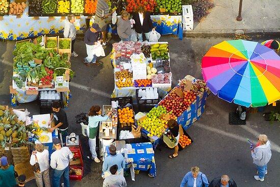 """Colorful Market"" - farmers' market by John Hartung"
