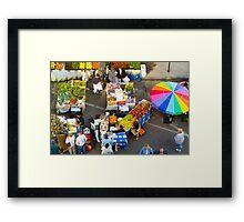 """Colorful Market"" - farmers' market Framed Print"