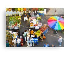 """Colorful Market"" - farmers' market Metal Print"