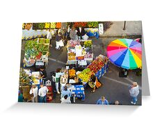 """""""Colorful Market"""" - farmers' market Greeting Card"""