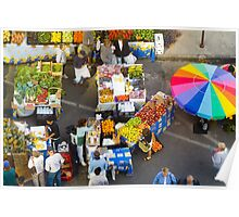 """Colorful Market"" - farmers' market Poster"