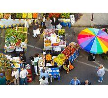 """Colorful Market"" - farmers' market Photographic Print"