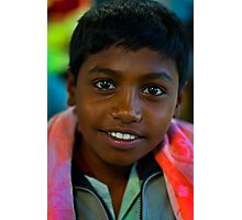 the boy in the market Photographic Print