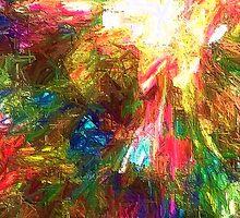 An Angel Descends From His Face by Judah Johansen