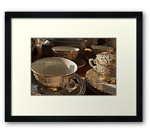 old pottery cup Framed Print