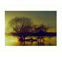Sunrise at the Lake Art Print