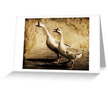 Gabbing Geese Go Walking (Art & Poetry) Greeting Card