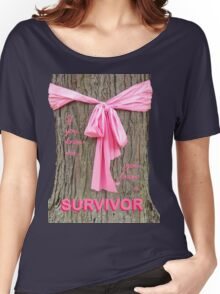 SURVIVOR: Breast Cancer Awareness Tee Women's Relaxed Fit T-Shirt