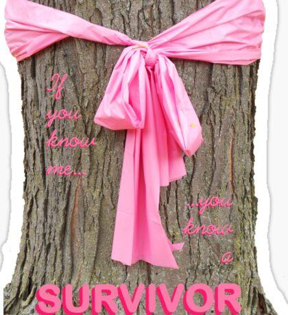 SURVIVOR: Breast Cancer Awareness Tee Sticker