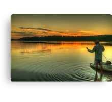 Wetting A Line - Narrabeen Lakes, Sydney Australia - The HDR Experience Canvas Print
