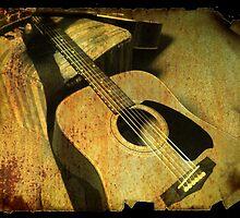 vintage guitar  by jbartistic