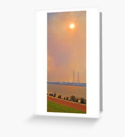 Champion Lakes Bushfire  Greeting Card