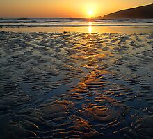 Sandy Sunset by Chriskeates