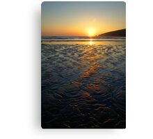 Sandy Sunset Canvas Print