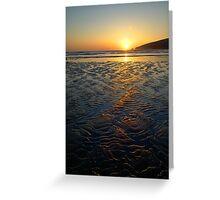 Sandy Sunset Greeting Card