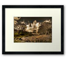 A Tinted Winter Landscape Framed Print