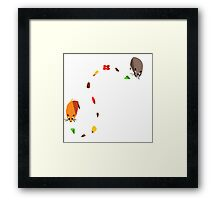 Hamster trail  Framed Print