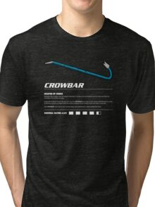 Zombie Weapons - Crowbar Tri-blend T-Shirt