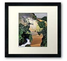 Is there anybody out there? Framed Print