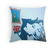 The Princess & the frog street art Throw Pillow