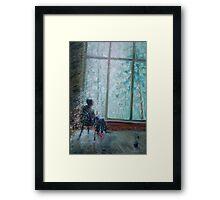 Sviridov. Snowstorm. Romance  /  2010  /  oil on cardboard Framed Print