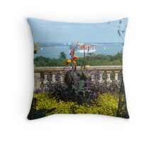 View of the Solent from Osbourne House Throw Pillow