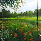Wild Flowers under the Carob Tree  by lizzyforrester