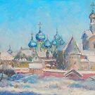 Church bells  / 1988  /  oil, pencil on paper by Ivan KRUTOYAROV