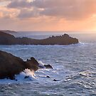 After the storm. Zennor head, Cornwall. by Justin Foulkes