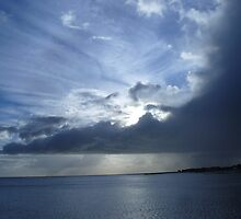 Blue cloudy Sunset at Clacton by dustyparasol