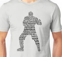 Typographic Hockey Enforcer  Unisex T-Shirt