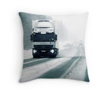 5.2.2011: On the Winter Road II Throw Pillow