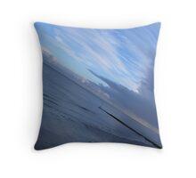 Blue Beach, Clacton, Essex Throw Pillow