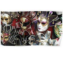 Venice's Masks Poster