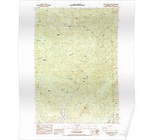 USGS Topo Map Oregon Yellowstone Mtn 282159 1985 24000 Poster