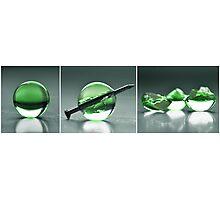 Bubble destruction Photographic Print