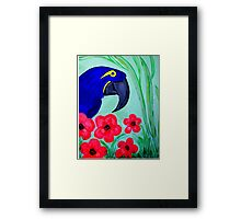 ART DECO BLUE PARROT  ART DECO Framed Print