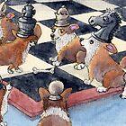 Corgi chess by SusanAlisonArt