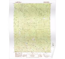 USGS Topo Map Oregon Oregon Caves 280998 1986 24000 Poster