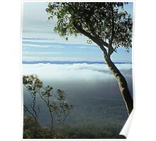 fog over the valley Poster