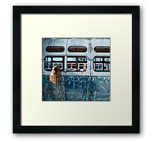sometimes it's hard to get through to me. Framed Print