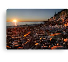 Sunrise at Rocky Beach, Acadia NP, ME Canvas Print