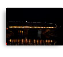 Covered at night Canvas Print