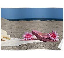 Sur la plage Poster