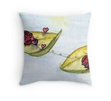 Ladybug Lovers - Watercolor Throw Pillow