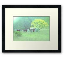 yellow tree in water colour Framed Print