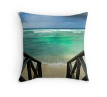 """""""Storm at the Spot"""" - West Island, Cocos (Keeling) Islands Throw Pillow"""
