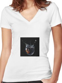 Drop! Women's Fitted V-Neck T-Shirt